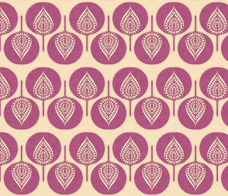 tree_hearts_purple_small fabric by holli_zollinger on Spoonflower - custom fabric