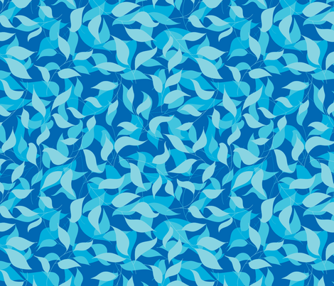Bright blue fabric by stewsha on Spoonflower - custom fabric