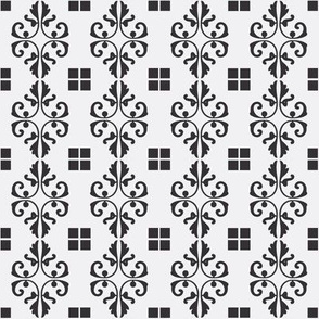 Diamonds and Squares in Black & Gray