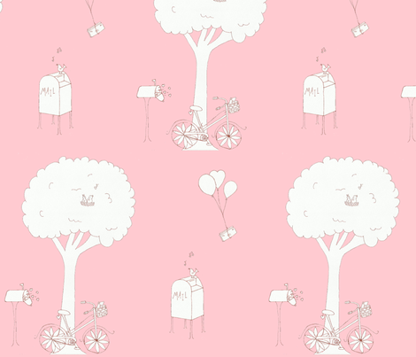 love is in the air fabric by mymagicmom on Spoonflower - custom fabric