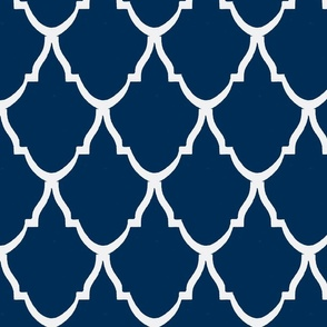 Teardrop Trellis Navy and White