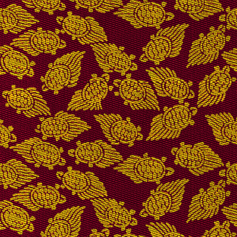 golden turtles, purple/fushia background fabric by materialsgirl on Spoonflower - custom fabric