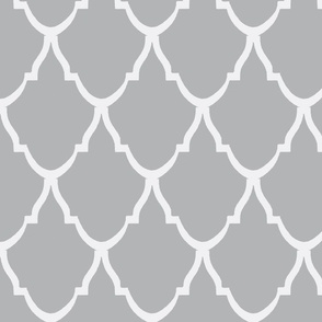 Teardrop Trellis Gray and White