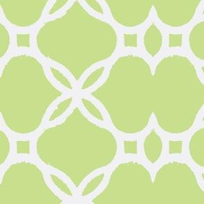 Ironwork Lattice Celery and White