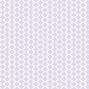 quatrefoil mini print lavender and white