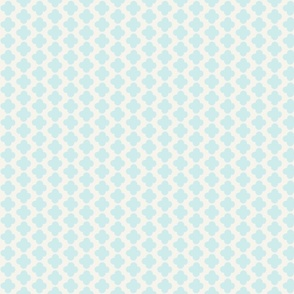 quatrefoil mini print blue and white