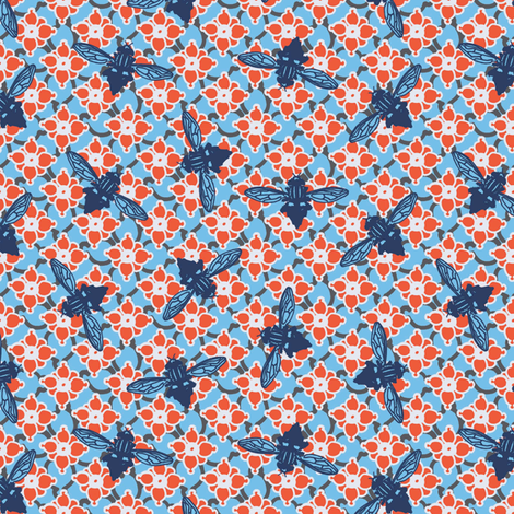 Lazy Days Blue fabric by kathyjuriss on Spoonflower - custom fabric