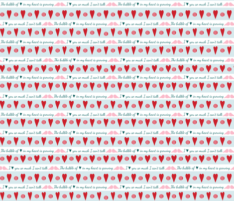 Bubble of Love fabric by madex on Spoonflower - custom fabric