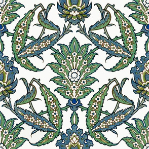 Persian pattern, restored colors