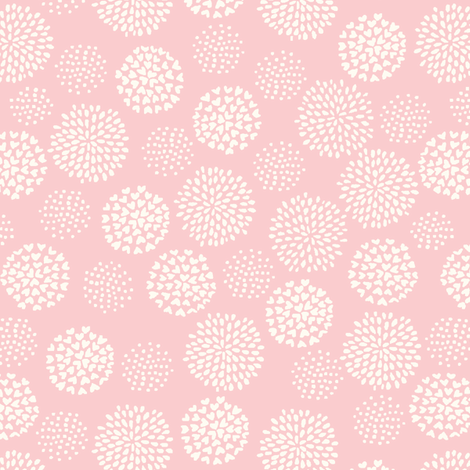 funny_bunny_love_pom_pom_pink fabric by stacyiesthsu on Spoonflower - custom fabric
