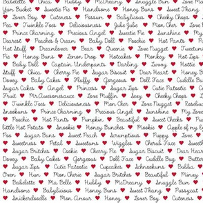 Love Bug Text fabric
