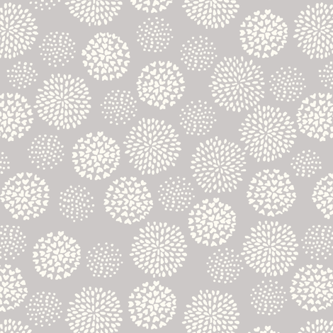funny_bunny_love_pom_pom_gray fabric by stacyiesthsu on Spoonflower - custom fabric
