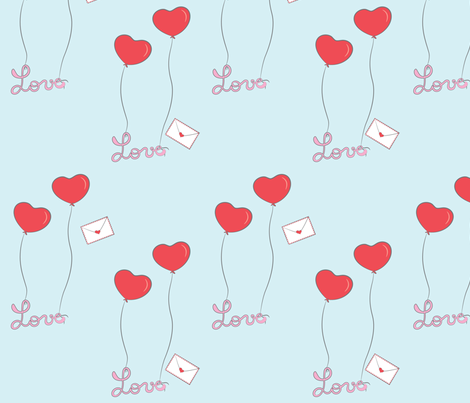 Love_letters fabric by maziza on Spoonflower - custom fabric
