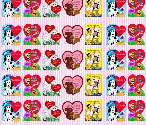 Valentine Decals fabric by mbsterling on Spoonflower - custom fabric