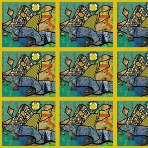 The Ottoman Turtles Fly Kites with the Lady of Colors (basic repeat)