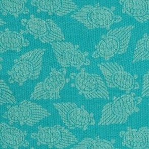 turtles -  aquamarine blue/turquoise dark