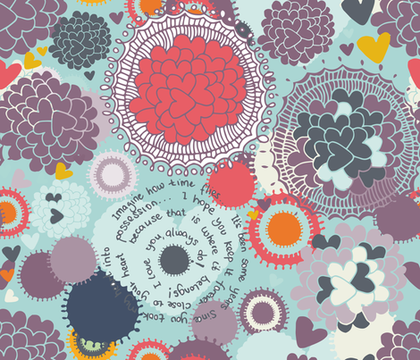 Love letter fabric by njeridesigns on Spoonflower - custom fabric