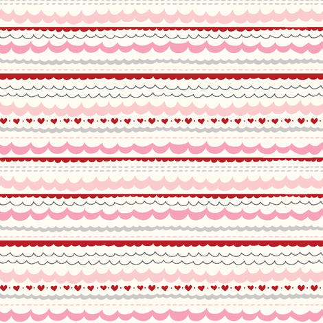 funny_bunny_love_scallop1 fabric by stacyiesthsu on Spoonflower - custom fabric