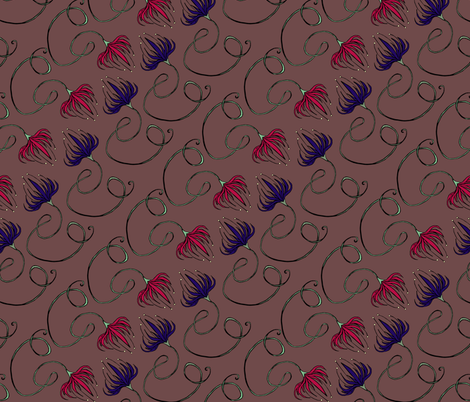 Curled Vine Stripe fabric by pond_ripple on Spoonflower - custom fabric
