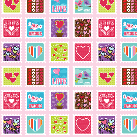 Stamped with Love fabric by holladaydesigns on Spoonflower - custom fabric