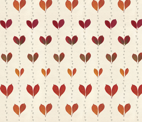 I leaf you fabric by linkolisa on Spoonflower - custom fabric