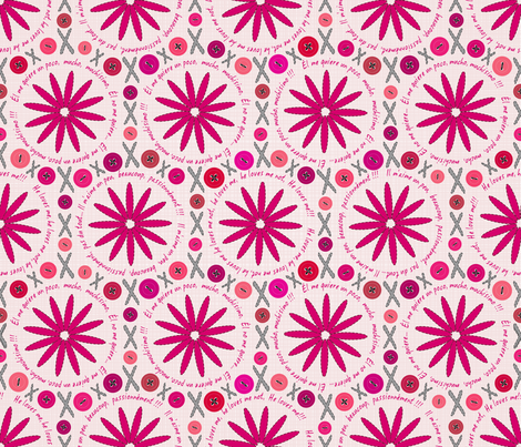 LoveSewingFlowers fabric by juliesfabrics on Spoonflower - custom fabric