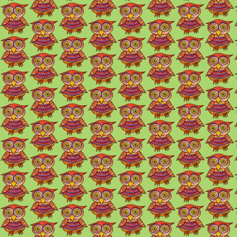 Olivia, or Owlivia! :o)  fabric by joojoostrees on Spoonflower - custom fabric