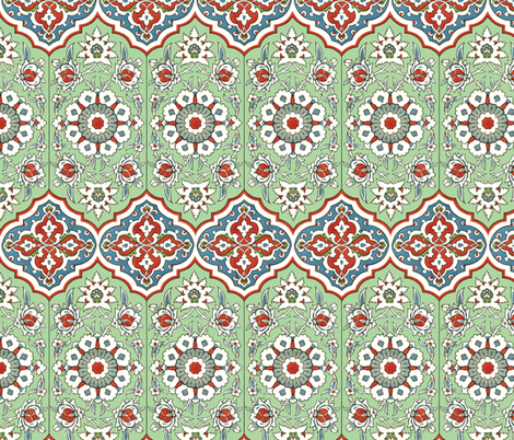 Persian wall decor fabric by unseen_gallery_fabrics on Spoonflower - custom fabric