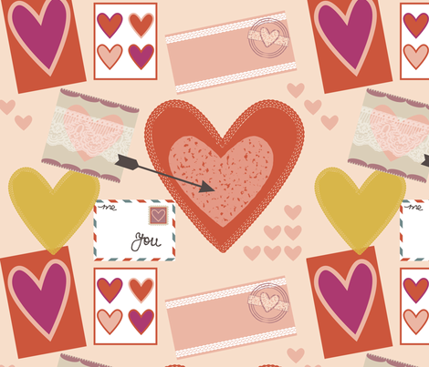 LoveLetters fabric by mrshervi on Spoonflower - custom fabric
