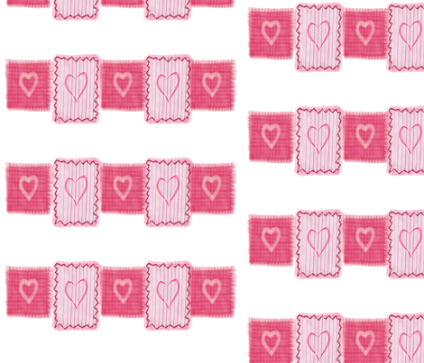 hearts fabric by chovy on Spoonflower - custom fabric