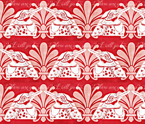 I Will Go Too fabric by owlandchickadee on Spoonflower - custom fabric