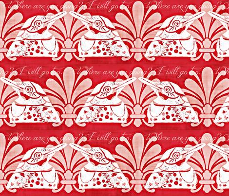 I Will Go Too fabric by owlandchickadee on Spoonflower - custom fabric