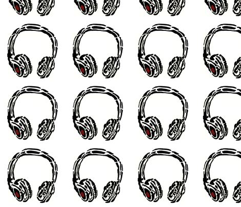big_headphones fabric by yoalder on Spoonflower - custom fabric