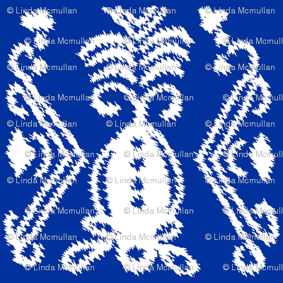 Pineapple Ikat Cobalt