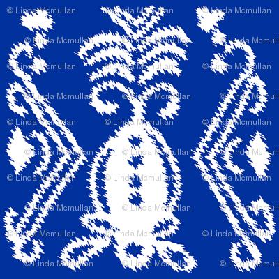 Pineapple Ikat Cobalt