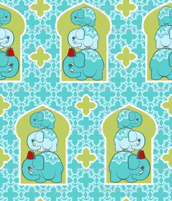 Elephant family blue