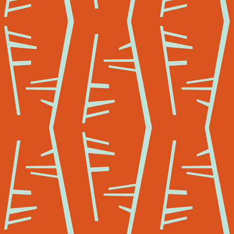 Orange Birch fabric by kelsey_joronen on Spoonflower - custom fabric