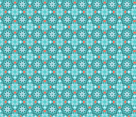 Moroccan garden blue fabric by cjldesigns on Spoonflower - custom fabric