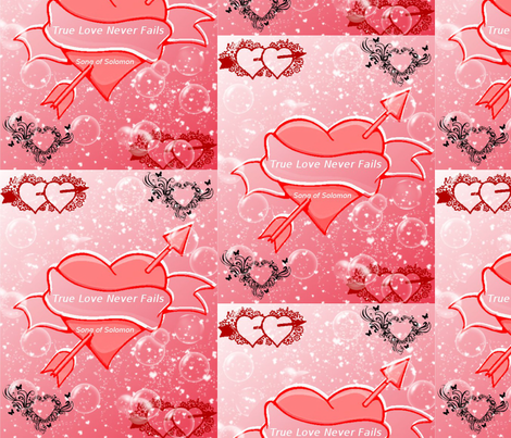 True Love Never Fails fabric by ascphotos&designs on Spoonflower - custom fabric