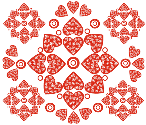 Hearts United! fabric by createdgift on Spoonflower - custom fabric
