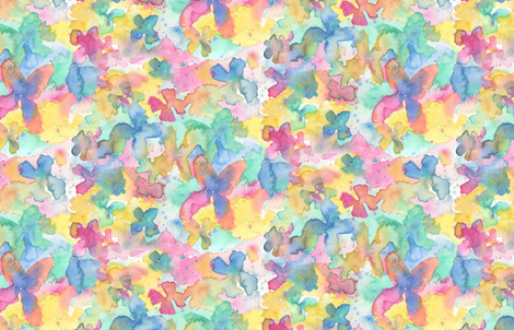 Watercolour Butterfly fabric by verenaerin on Spoonflower - custom fabric