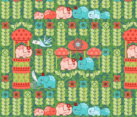 Tale of two elephants fabric by cjldesigns on Spoonflower - custom fabric