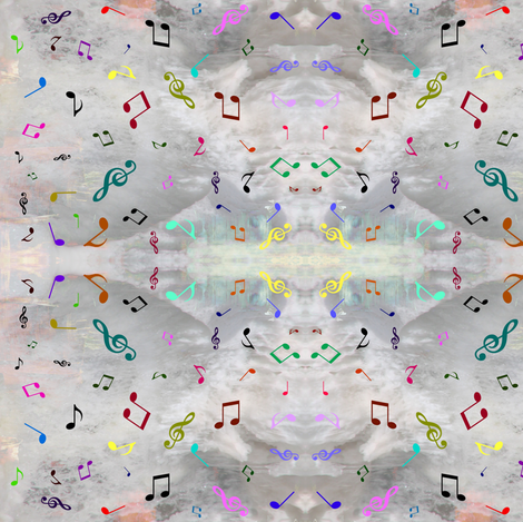 Rainbow of Music fabric by ravynscache on Spoonflower - custom fabric