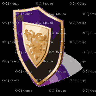 Medieval Shield Purple/Black