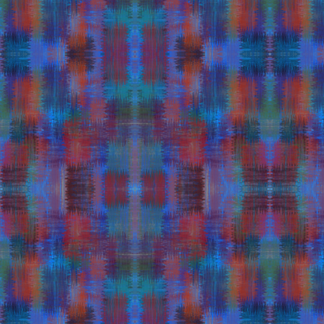 Approximate plaid - marine brush fabric by glimmericks on Spoonflower - custom fabric