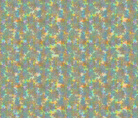 blazing_leaves_-_shimmer_gray_inv fabric by glimmericks on Spoonflower - custom fabric