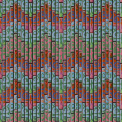 inuit chevron multi 3x fabric by glimmericks on Spoonflower - custom fabric