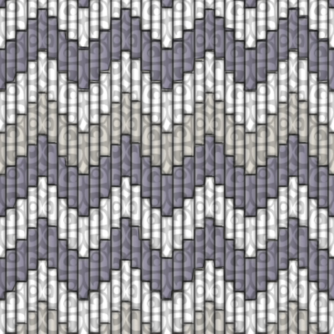 inuit chevron smoke 3x fabric by glimmericks on Spoonflower - custom fabric