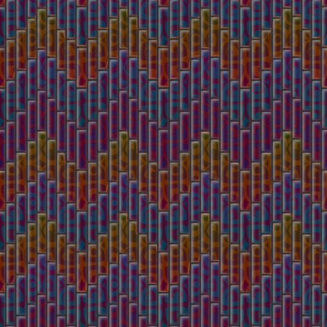 inuit chevron jasper 3x fabric by glimmericks on Spoonflower - custom fabric