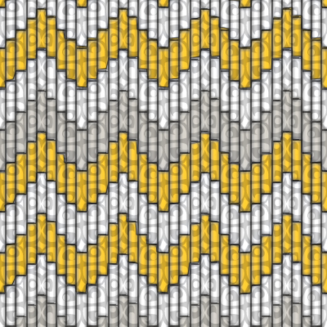 inuit_chevron_sunshine-3x fabric by glimmericks on Spoonflower - custom fabric